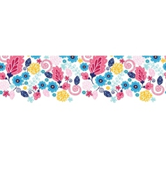 Fairytale flowers horizontal seamless pattern vector image vector image