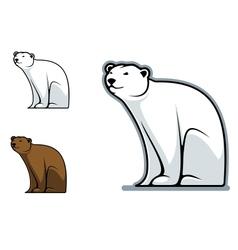 Funny bear vector