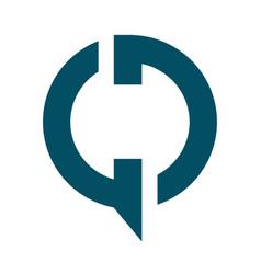 Gd modern business letter logo design vector