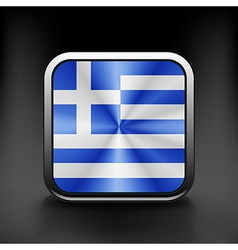 Greece icon flag national travel icon country vector image