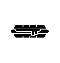 hamburger icon black sign on vector image vector image
