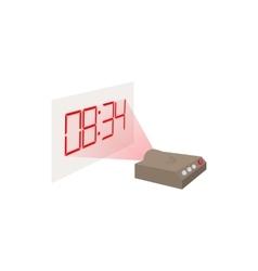 Hologram clock icon cartoon style vector