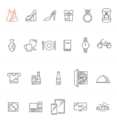 Icon modern internet shoping sales vector