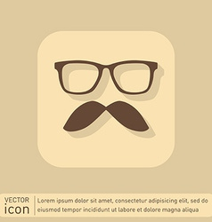 mustache and glasses hipster icon symbol vector image