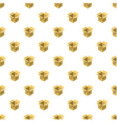 Open empty cardboard pattern vector