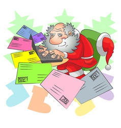 Santa and e mail vector image vector image