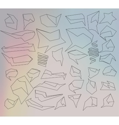 Set of abstract speech balloons vector image