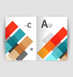 set of front and back a4 size pages business vector image