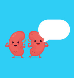 strong healthy happy kidneys character vector image vector image