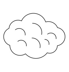 Summer cloud icon outline style vector