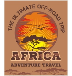 Travel africa - extreme off-road emblem vector