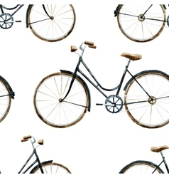 Watercolor bikes pattern vector image
