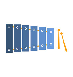 Xylophone part of musical instruments set of vector