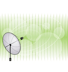 Satellite dish on green background vector