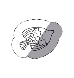 sticker silhouette ballet fish animal marine vector image