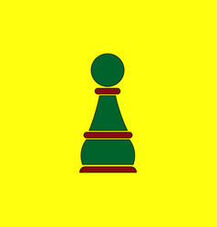 in flat style chess pawn vector image