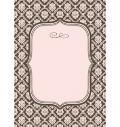 Wallpaper pattern and border vector