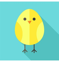 Yellow bird chicken vector