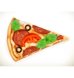 Slice of pizza vector