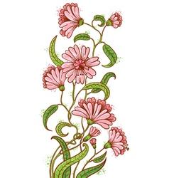 doodle floral sketchy bouquet vector image