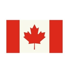 Flag of canada icon flat style vector