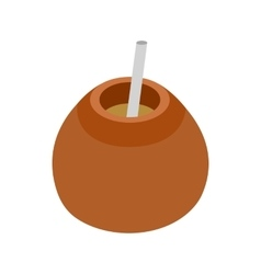 Chimarrao for mate or terere icon vector