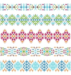 Tribal aztec ethnic borders vector image