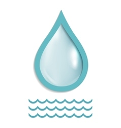 A drop of pure water vector