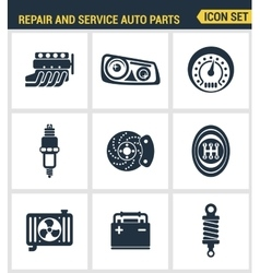 Icons set premium quality of repair and service vector