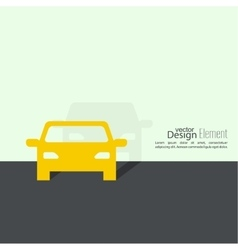 Abstract background with a car vector