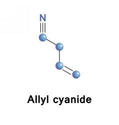 Allyl cyanide chemical vector