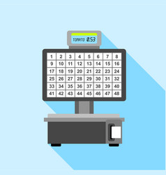 Automatic electronic check printing scales icon vector