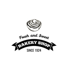 Bakery shop Fresh and sweet Logo Badge vector image vector image