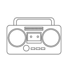Boom box or radio cassette tape player icon vector