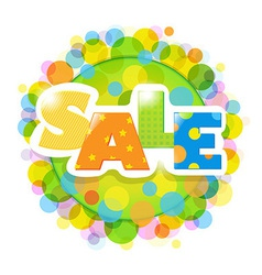 Bright Sale Poster With Bokeh vector image