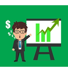 Business man characters presentation plan graph vector