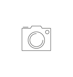 camera icon isolated pohotocamera symbol photo vector image vector image