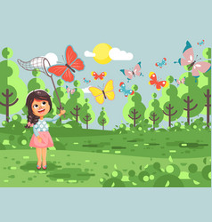 Cartoon character lonely child vector