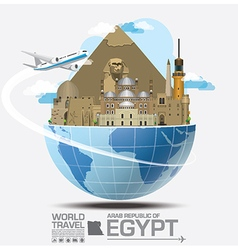Egypt landmark global travel and journey vector