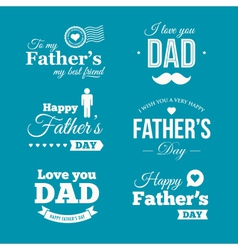 Fathers day logo vector