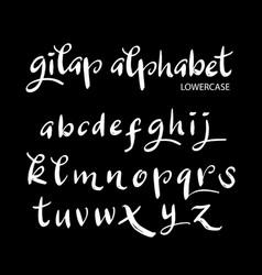 Gilap alphabet typography vector