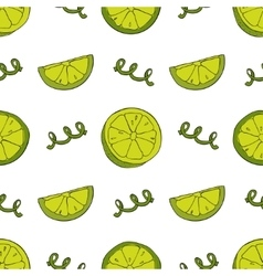 Hand drawn lime seamless pattern vector