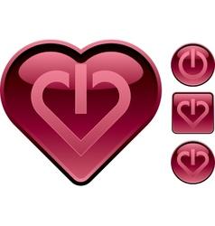 Heart buttons vector