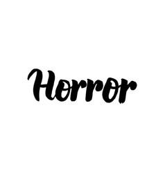 Horror handwritten lettering vector