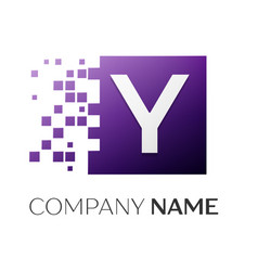 letter y logo symbol in the colorful square with vector image