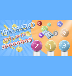 Lottery bingo game poster banner template vector