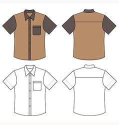 Mans buttoned shirt vector