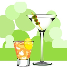 Martini and cocktail vector image