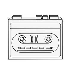 old cassette recorder vector image