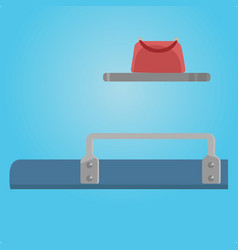place at train shelf and bag traveling situation vector image